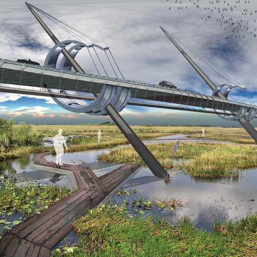 Bridge in the Wetlands, Landscape Architecture Plan