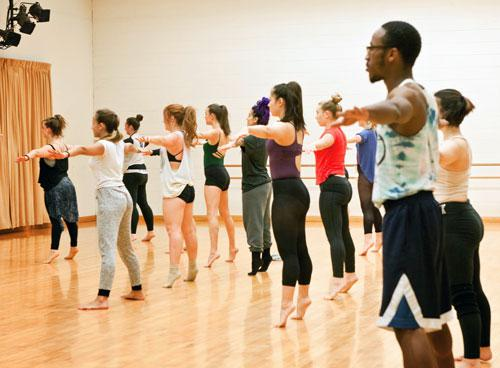 Workshop with Sonyah Tayeh, Dance at Illinois, 2015
