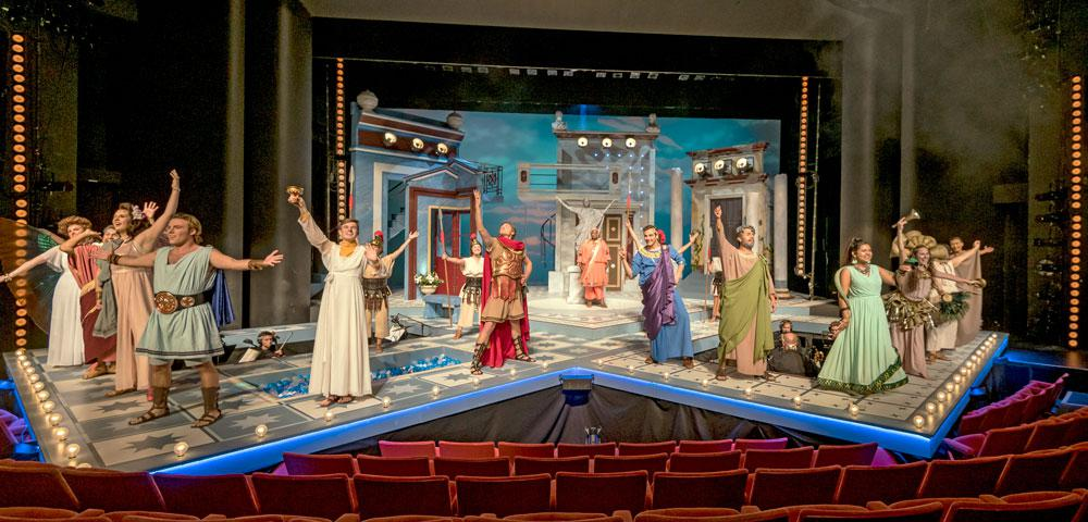 A Funny Thing Happened on the Way to the Forum, Department of Theatre, October 2018, Photo by Darrell Hoemann